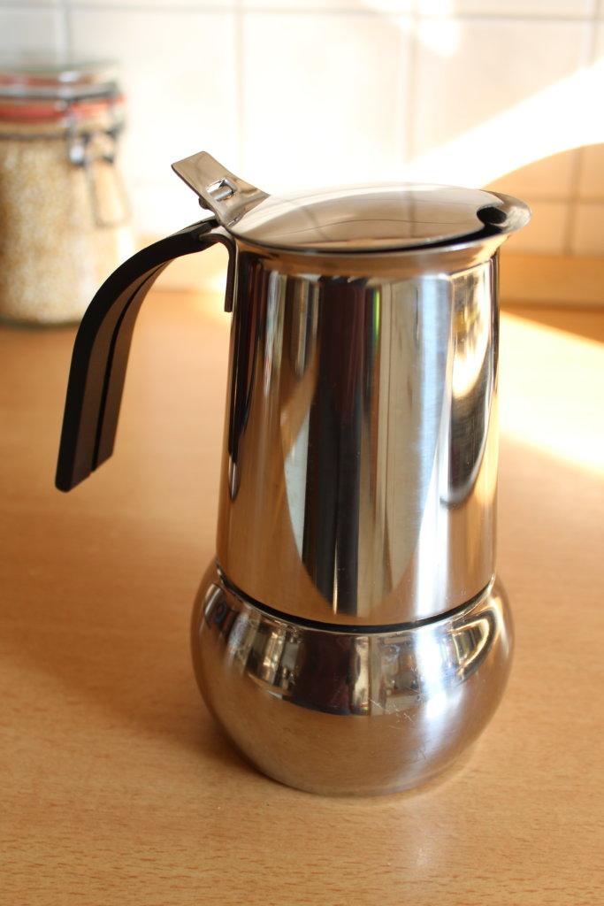 Espressokanne aus Edelstahl