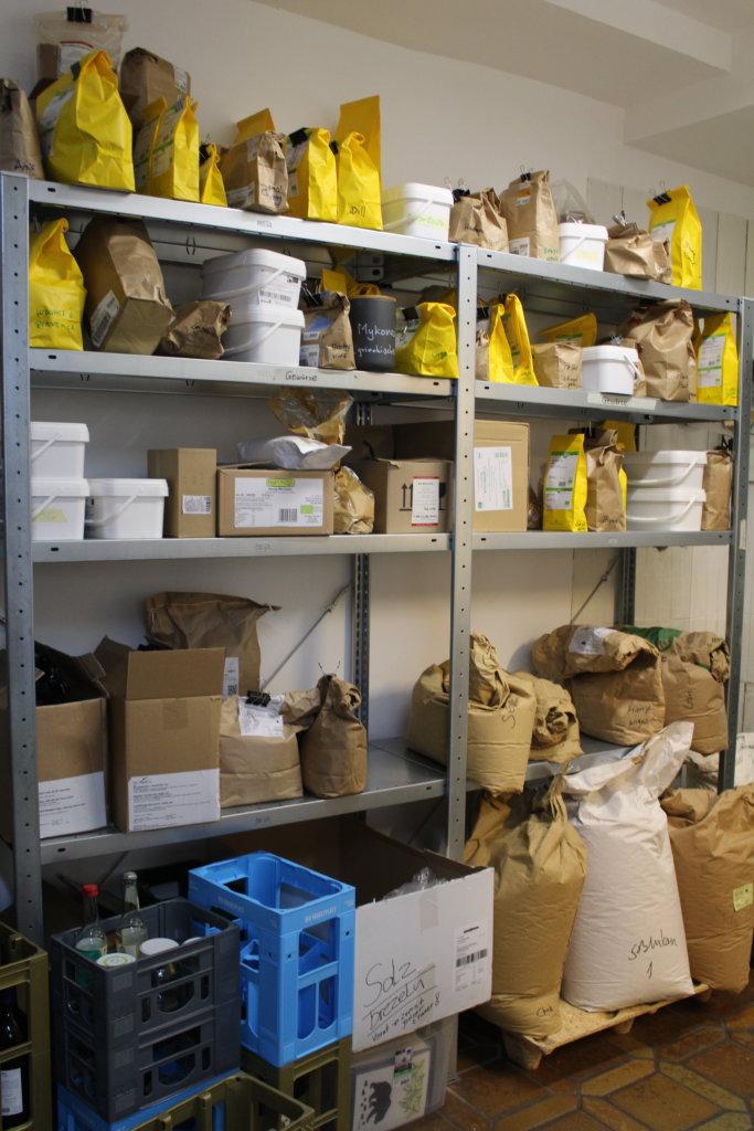 Lagerraum von Tante Lose, Unverpacktladen in Wangen im Allgäu