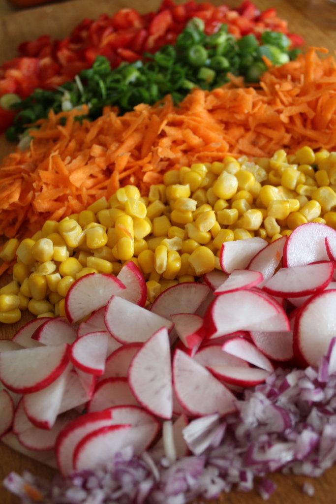 Bohnensalat viele kleine dinge