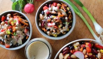 Bohnensalat mit ölfreiem Dressing