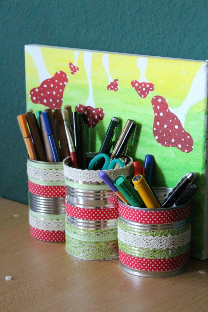 Stifebox aus Konservendosen Upcycling viele kleine dinge
