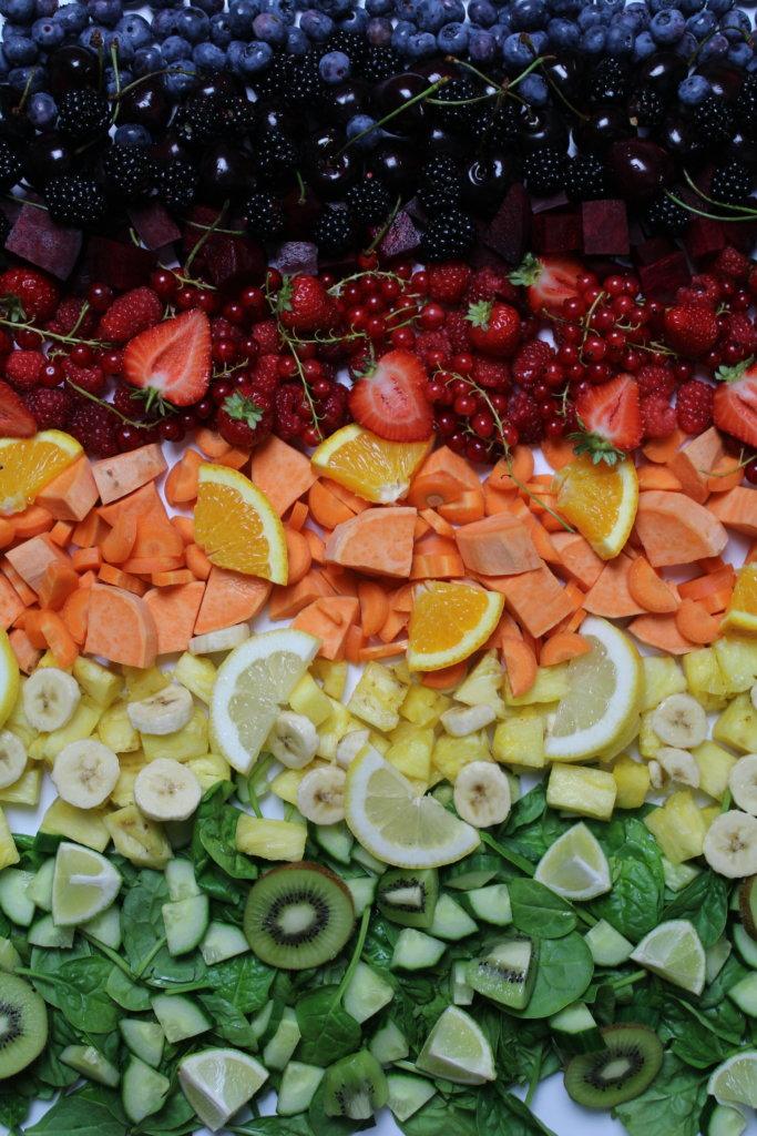 Lebensmittel Regenbogensmoothies viele kleine dinge