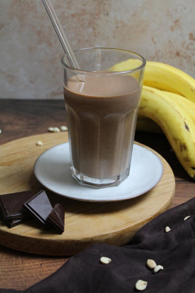 Schoko Erdnuss Bananen Smoothie viele kleine dinge